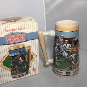 Budweiser Baseball Beer Stein Limited Ed 1…